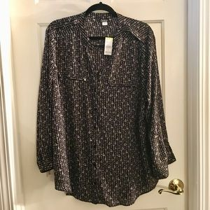 Simply Emma Abstract Print Blouse